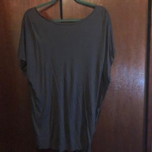 All saints soft blouse with side unfinished ruffle